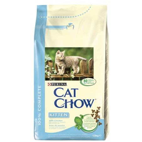 CROQUETTES CHAT CAT CHOW KITTEN 1.5KG PURINA