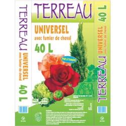 TERREAU HORTICOLE ENRICHI AU FUMIER DE CHEVAL 50L