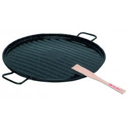 POELE GRILL EMAILLeE 36 CM