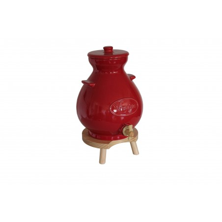 POT VINAIGRIER ROUGE 4.5L