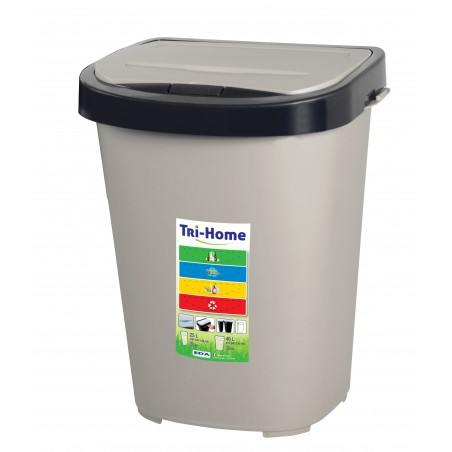 POUBELLE TRI-HOME 40 LITRES