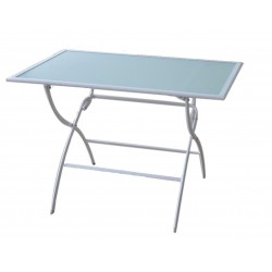 TABLE LEUCATE PLIANTE 110X70X72CM