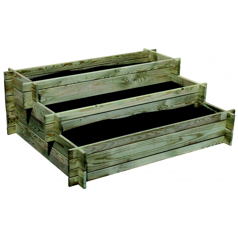 carre potager nikole l 100xl 75xh 40 cm escalier pole vert villefranche. Black Bedroom Furniture Sets. Home Design Ideas