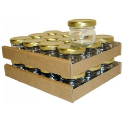 PACK DE 24 POTS A MIEL 30ML   COUVERCLE DOR  TO43
