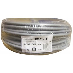CABLE HO5 VVF 3X1.5 BOB.50M GRIS